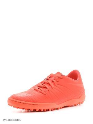 Шиповки HYPERVENOM PHELON II TF Nike. Цвет: красный