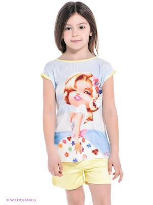 Комплект Baby Rose. Цвет: желтый, голубой
