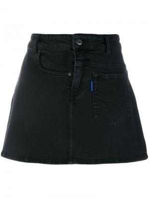 Джинсовая юбка Filles A Papa. Цвет: чёрный