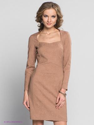 Платье Capriz. Цвет: коричневый