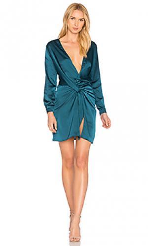 Платье lust and fame LIONESS. Цвет: синий
