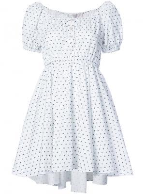 Мини-платье Bardot Caroline Constas. Цвет: белый