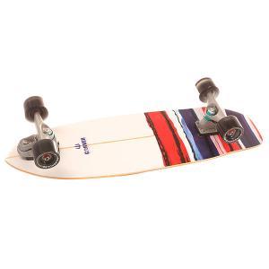 Скейт круизер  C7 Complete Usa Resin Assorted 9.75 x 32.5 (82.5 см) Carver. Цвет: белый,синий,красный