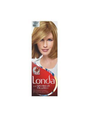 Крем-краска для волос упрямой седины стойкая 66+ Золотистый блондин LONDA. Цвет: белый, красный