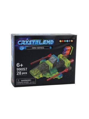 Светящийся конструктор Crystaland Космическая Яхта 28 деталей Neocube. Цвет: фиолетовый