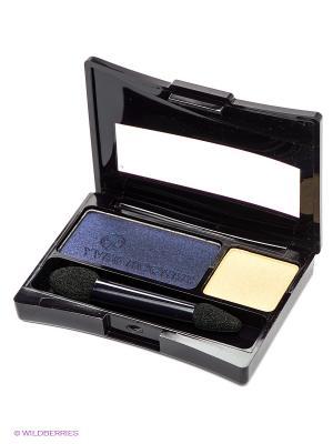 Пудровые тени-дуэт для век Насыщенный цвет Yves Rocher. Цвет: темно-синий, золотистый