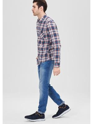 Рубашка S.OLIVER. Цвет: темно-синий, красный