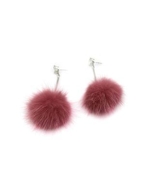 Серьги Miss Bijou. Цвет: розовый,серебристый,прозрачный