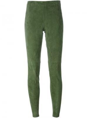Узкие брюки Steffen Schraut. Цвет: зелёный