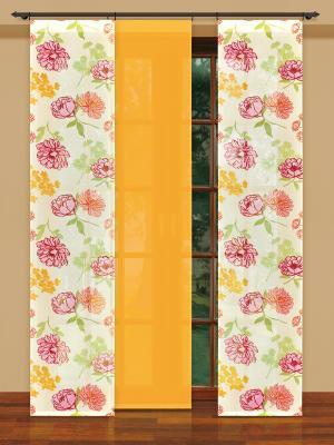 Гардина Haft. Цвет: желтый, молочный, бледно-розовый