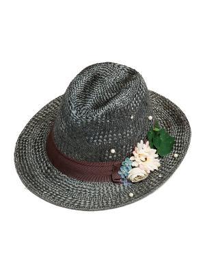Шляпа Kameo-bis. Цвет: серый, бежевый, зеленый