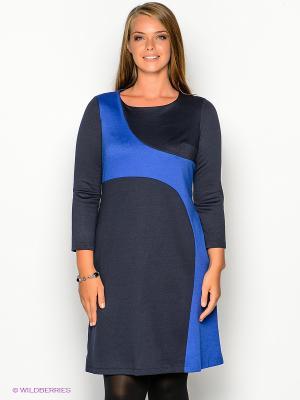 Платье МадаМ Т. Цвет: темно-синий, синий