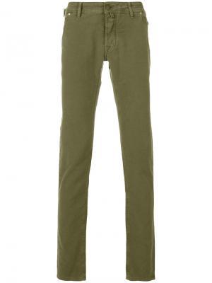 Прямые брюки Jacob Cohen. Цвет: зелёный