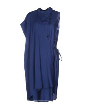 Короткое платье REALITY STUDIO. Цвет: синий