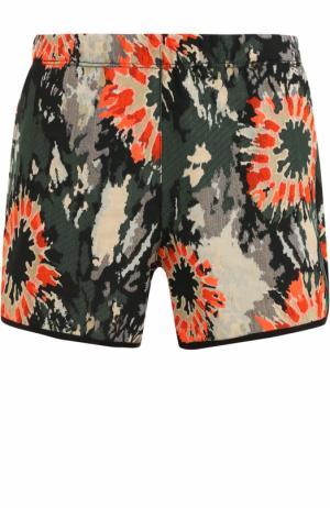 Мини-шорты с цветочным принтом Raquel Allegra. Цвет: хаки