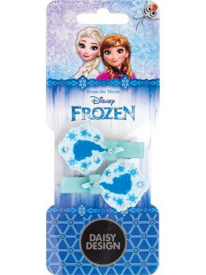 Набор заколок для волос Силуэт Daisy Design. Цвет: голубой