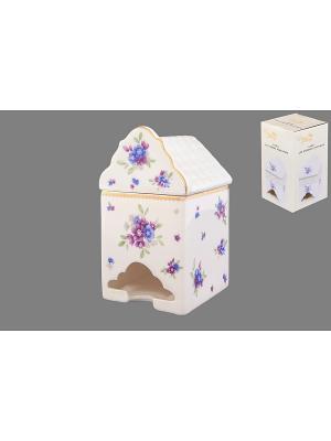 Банка для чайных пакетиков Сиреневый туман Elan Gallery. Цвет: белый, голубой, сиреневый
