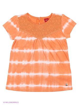 Футболка S.OLIVER. Цвет: оранжевый, белый