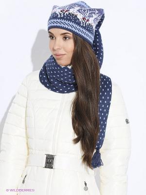 Шапка-шарф Scandica. Цвет: индиго, голубой