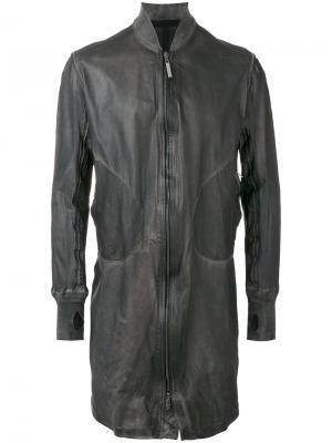 Длинная куртка бомбер Isaac Sellam Experience. Цвет: серый