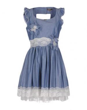 Короткое платье EUREKA. Цвет: синий