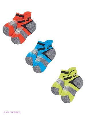 Носки 3PPK LYTE YOUTH SOCKS ASICS. Цвет: серый, голубой, оранжевый, зеленый