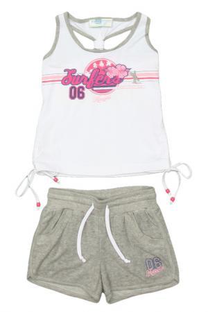 Комплект с шортами Relax Mode. Цвет: серый меланж