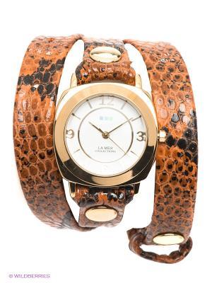 Часы La Mer Collections. Цвет: золотистый, коричневый, черный