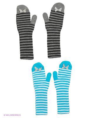 Варежки FOMAS. Цвет: серый, белый, бирюзовый, фиолетовый