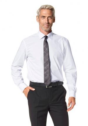 Комплект: рубашка, галстук и платок Otto. Цвет: белый