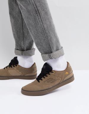 Emerica Светло-коричневые кроссовки с вулканизированной подошвой Reyno. Цвет: рыжий
