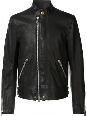 Куртка с воротником-стойкой The Soloist. Цвет: чёрный