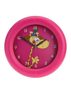 Часы настенные Mitya Veselkov. Цвет: розовый