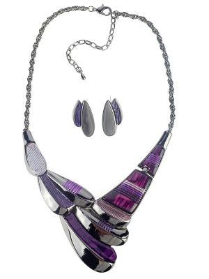 Колье Bijoux Land. Цвет: антрацитовый, фиолетовый