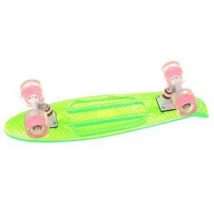 Скейт мини круизер  Cruiser Transparent Green 5.75 x 22 (55.9 см) Turbo-FB. Цвет: зеленый