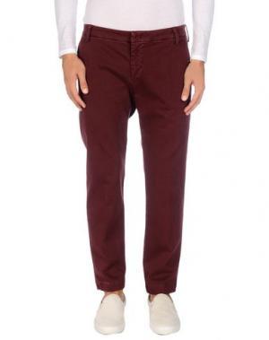 Повседневные брюки ENTRE AMIS. Цвет: красно-коричневый