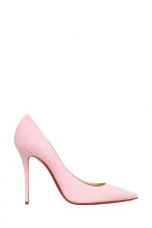 Замшевые туфли Decoltish 100 Christian Louboutin. Цвет: розовый