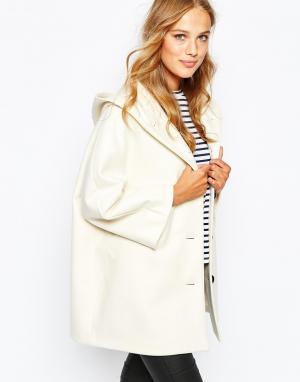 Sessun Кремовое пальто с капюшоном Louisa. Цвет: кремовый