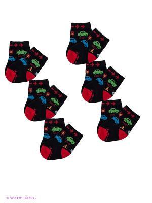 Носки, 6 пар Arina-Nirey. Цвет: черный, красный