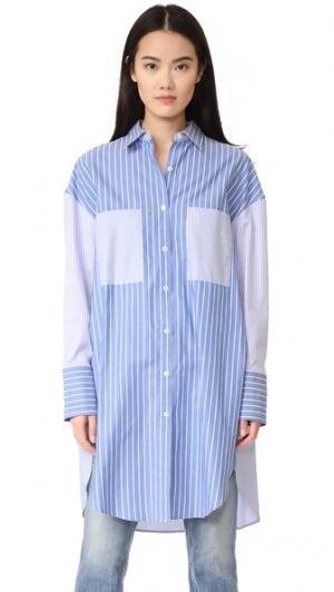 Платье-рубашка Golden Goose. Цвет: светло-голубой