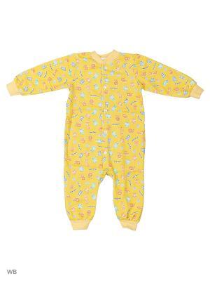 Комбинезон Babycollection. Цвет: желтый
