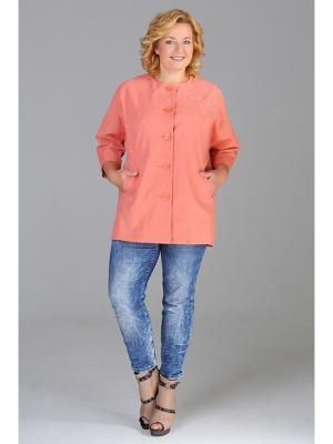 Жакет Стиль Fashion Lux. Цвет: терракотовый