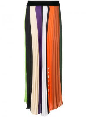 Плиссированная юбка Ssheena. Цвет: многоцветный