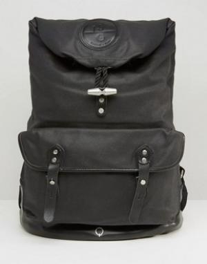 Stighlorgan Рюкзак из лакированной хлопковой парусины Reilly. Цвет: черный