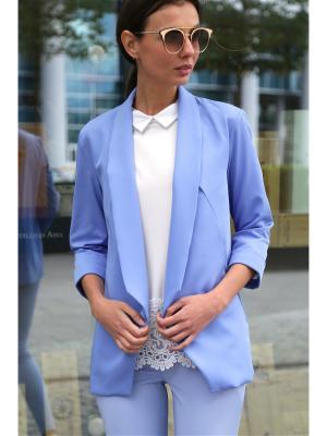 Жакет MADMILK. Цвет: голубой
