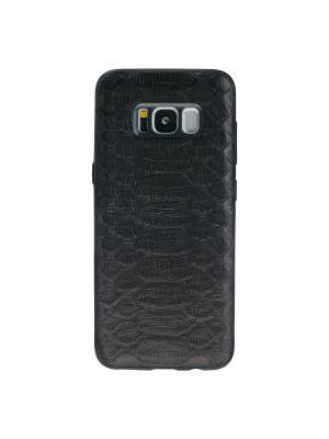Экзотический чехол из кожи питона Samsung Galaxy S8 Bouletta. Цвет: черный