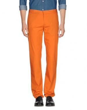 Повседневные брюки DANIELE ALESSANDRINI. Цвет: оранжевый