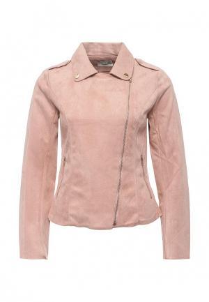 Куртка кожаная Coco Nut. Цвет: розовый