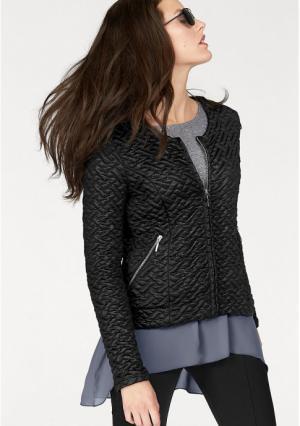 Стеганая куртка VIVANCE. Цвет: черный