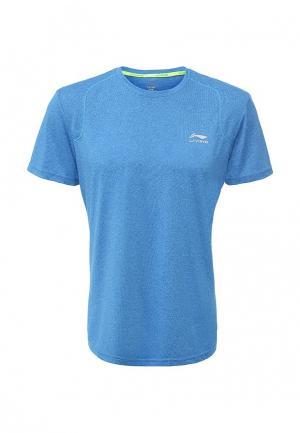 Футболка спортивная Li-Ning. Цвет: голубой